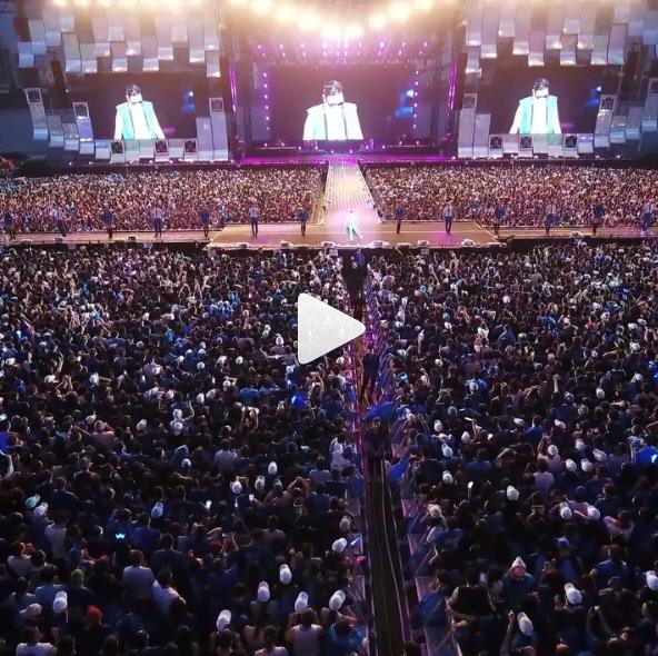 싸이가 자신의 인스타그램에 올린 작년 '흠뻑쇼' 공연 영상 / 사진 =  싸이 인스타그램