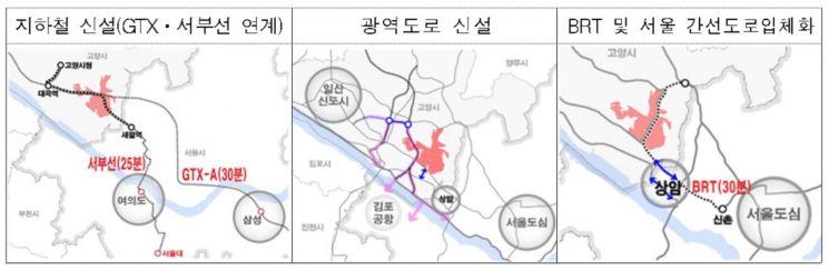 ▲고양 창릉지구 교통 대책(자료: 국토교통부)