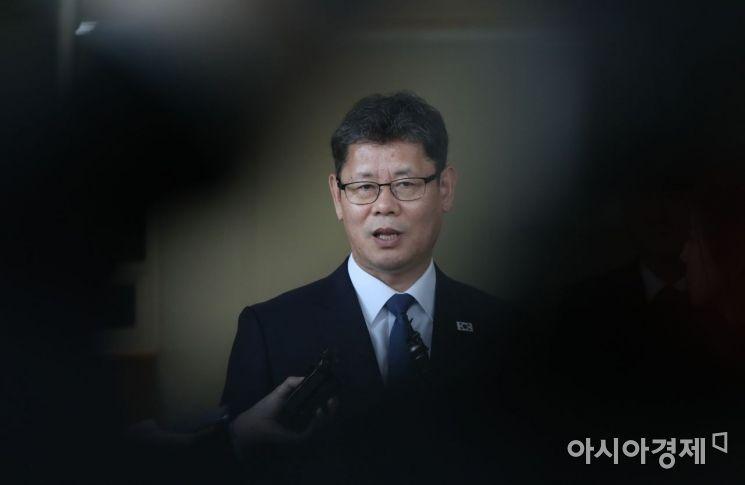 [포토] 취임 후 첫 방문 마친 김연철 장관