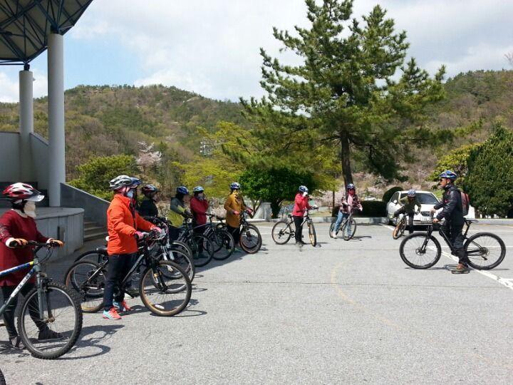 여수 진남체육공원 자전거교육 모습