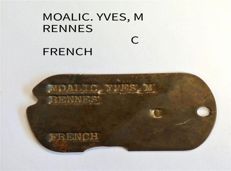 화살머리고지에서 발견된 프랑스군 6·25 전사자 인식표 (사진=국방부)
