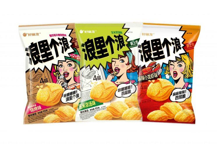 오리온이 중국에서 판매하는 '꼬북칩' (사진=아시아경제DB)