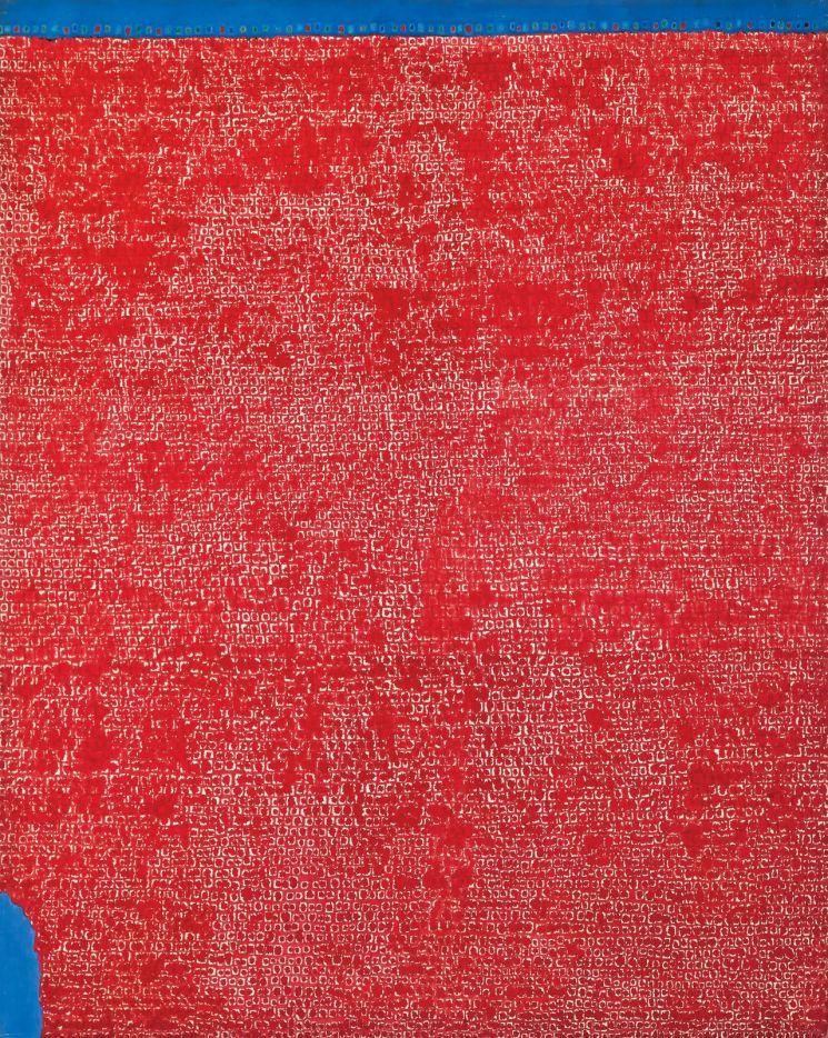 김환기 '무제', oil on cotton, 255×204.1cm, 1971, signed on the reverse, Estimate on Request  [사진= 서울옥션 제공]