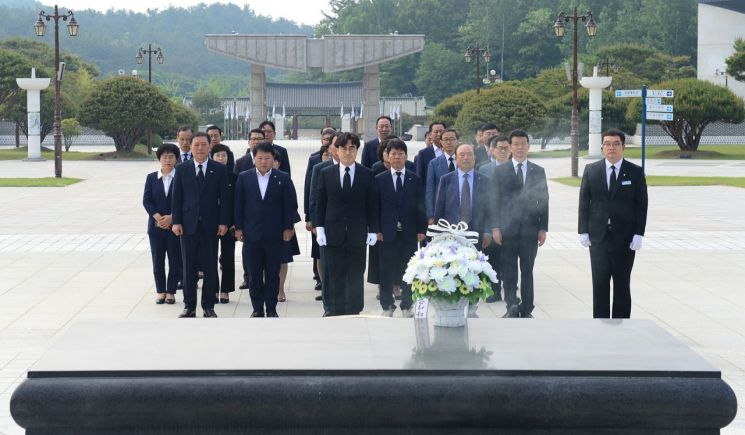 [포토] 광주 서구, 국립5·18민주묘지 참배