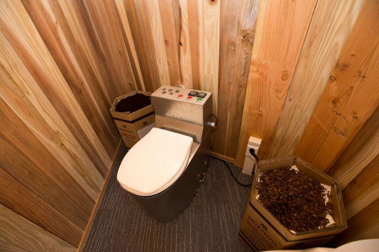 똥을 분말로 만든 후 에너지를 생산하는 울산과학기술원(UNIST)의 '윤동주 화장실' [사진=UNIST]