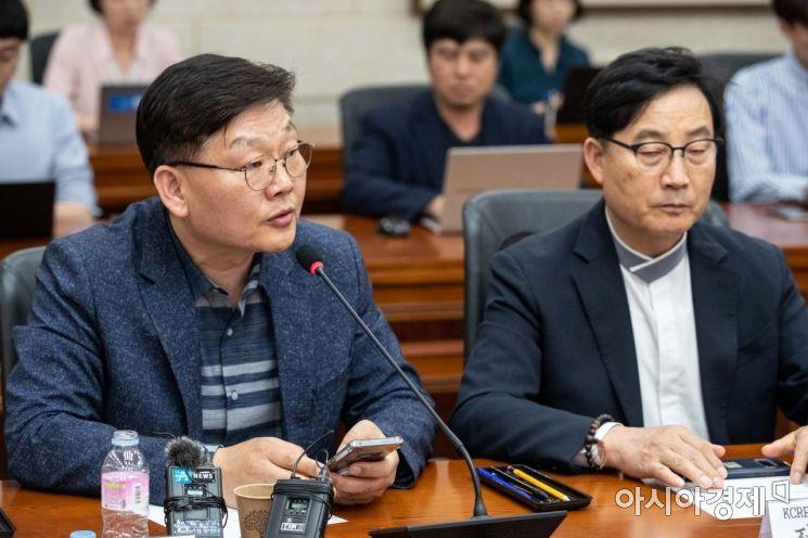 [포토]발언하는 김태성 KCRP 사무총장