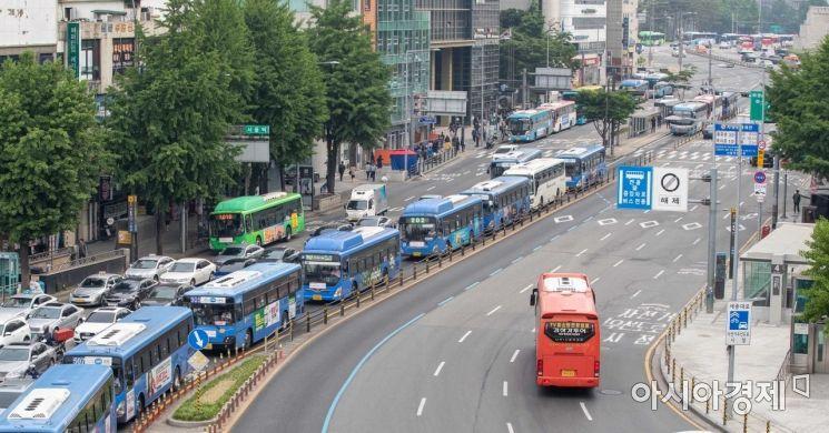[포토]'서울 버스 정상 운행'