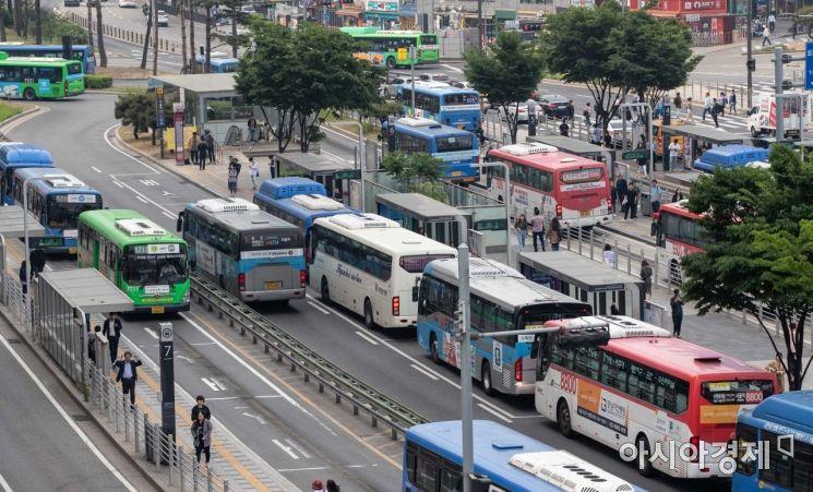 [포토]버스로 가득한 환승센터