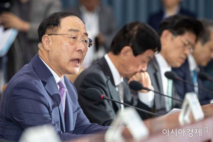 [포토]회의 주재하는 홍남기 경제부총리