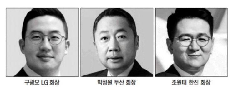 구광모·박정원·조원태, 어깨 무거운 새내기 회장님들