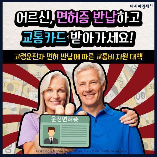 [카드뉴스]어르신, 면허증 반납하고 교통카드 받아가세요