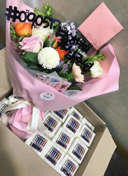 투애니원 팬들이 산다라박에게 보낸 선물 / 사진=산다라박 인스타그램 캡처