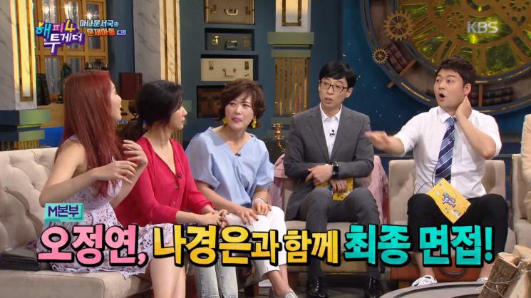나경은과 MBC 아나운서 최종 면접을 본 오정연 / 사진 = KBS 캡처