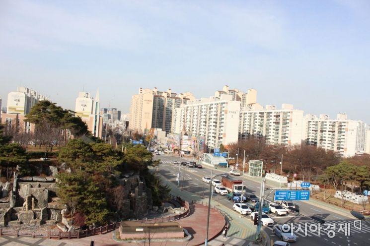 도로로 단절된 인천 중앙공원 3∼4지구 [사진=인천시]