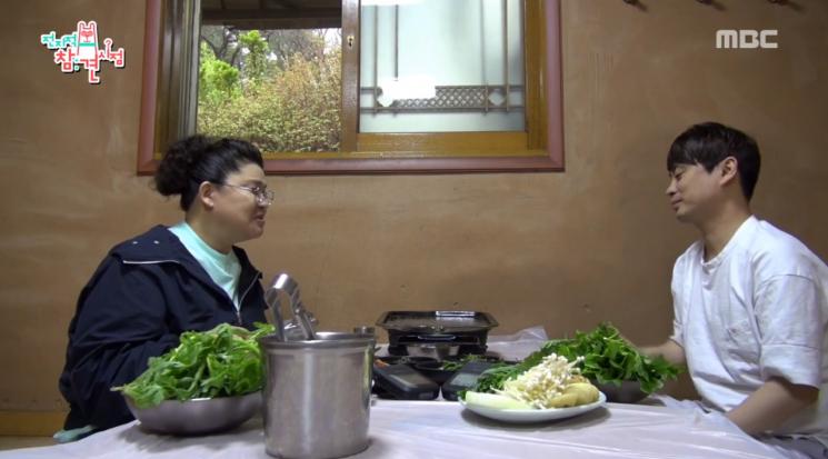 오리고기 맛집을 찾은 이영자와 송성호 팀장 / 사진 = MBC 캡처