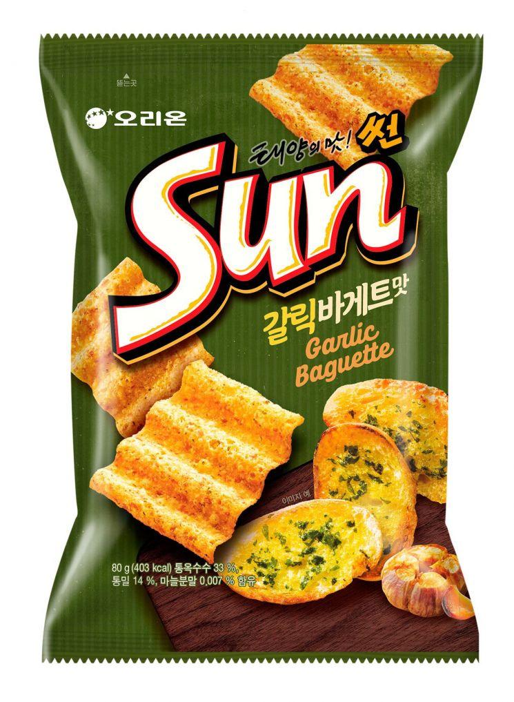 오리온, '태양의 맛 썬 갈릭바게트맛' 출시