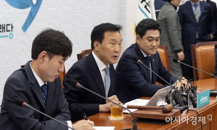 손학규 바른미래당 대표가 22일 국회에서 열린 최고위원회의에 참석, 모두 발언을 하고 있다./윤동주 기자 doso7@