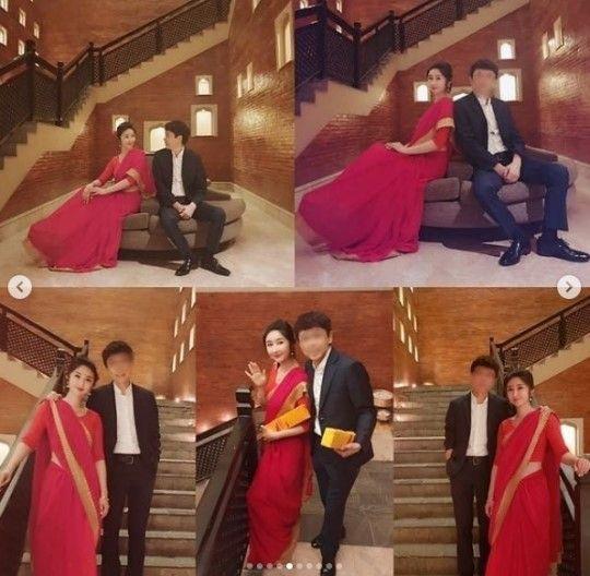개그우먼 겸 배우 성은채가 네팔에서 진행된 네번째 결혼식 사진을 공개했다/사진=성은채 인스타그램 캡처