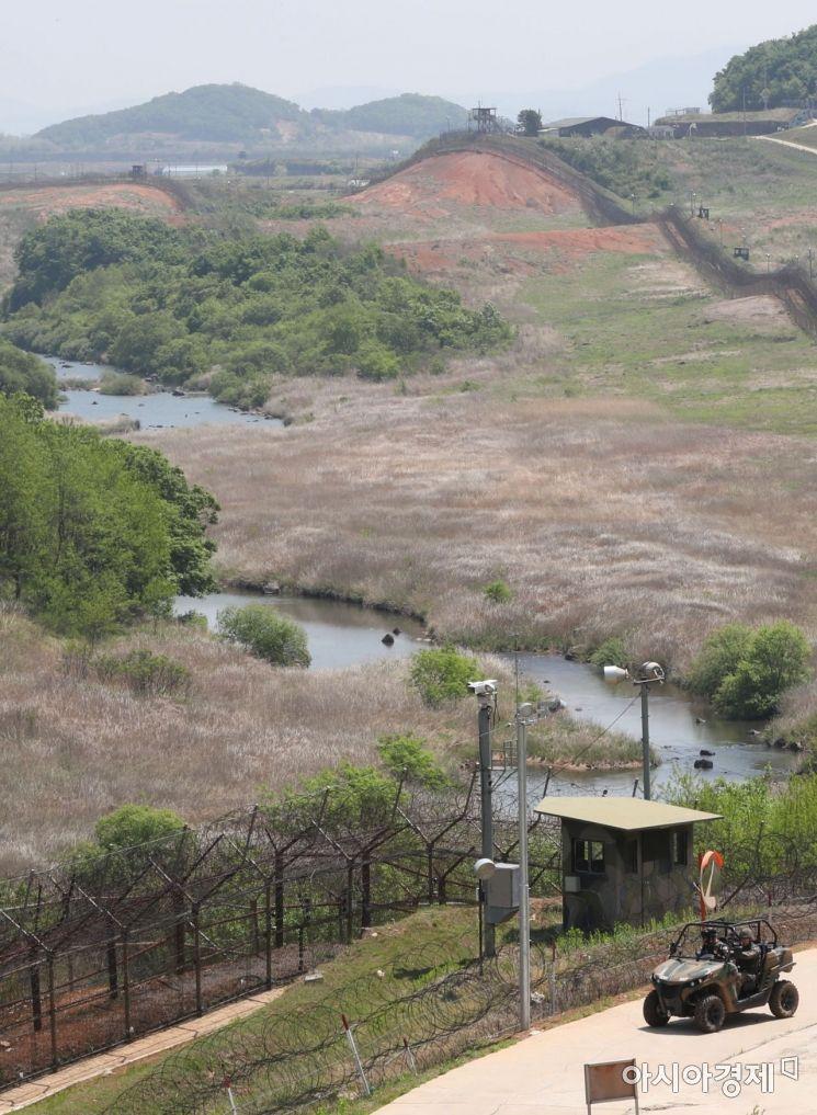 비무장지대(DMZ) 평화의 길 전경.