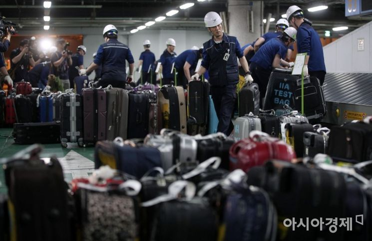 [포토] 인천공항 수하물 처리시설 장애 대응 훈련