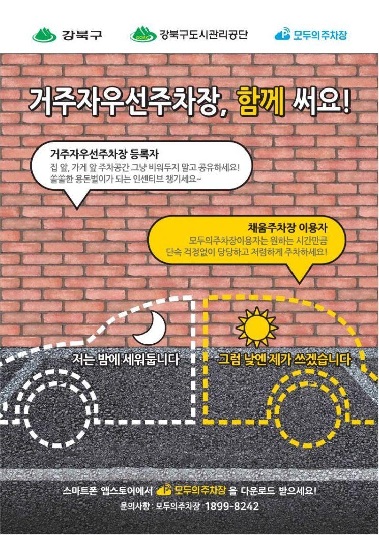 강북구, '주차공유사업' 혜택 확대