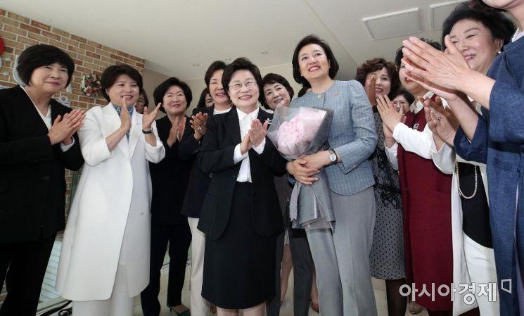 [포토] 박영선 중기부 장관, 여성경제인협회 방문