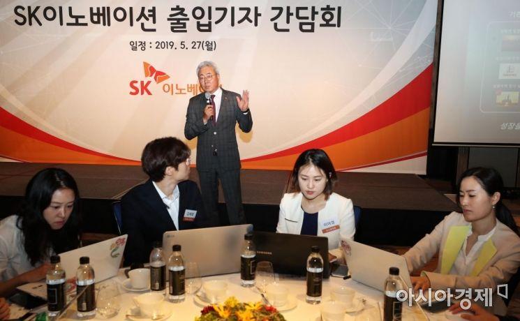 [포토]간담회 연 김준 SK이노베이션 총괄사장