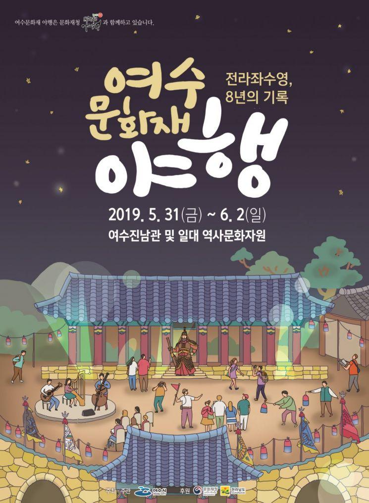 여수 문화재 야행 포스터