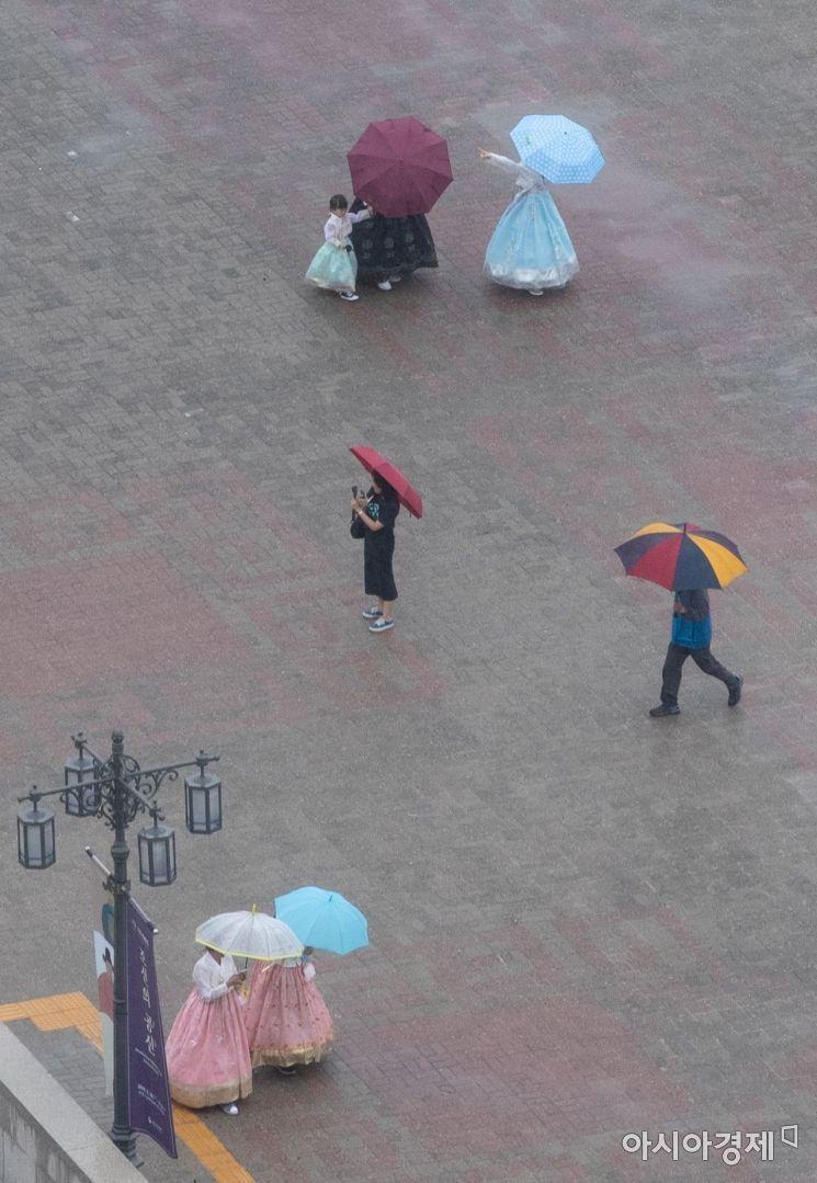 [포토]비오는날 한복입고