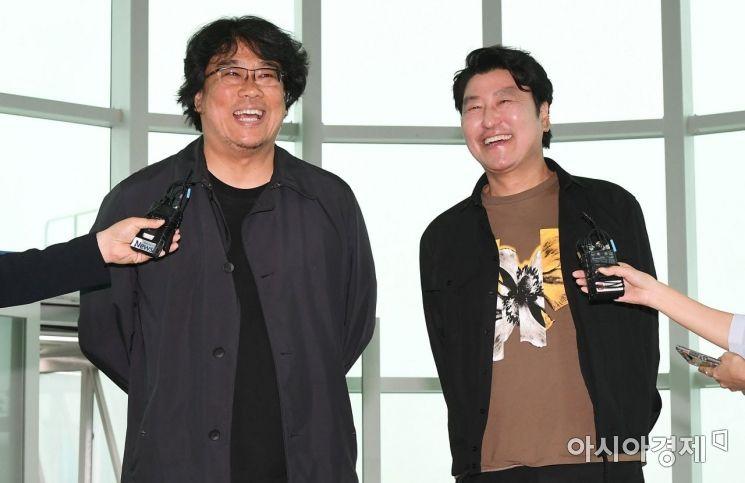 [포토] 환하게 웃는 봉준호 감독과 송강호