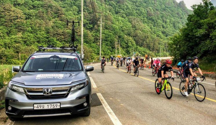 혼다코리아, 국내 최대 자전거 대회 '설악그란폰도' 공식 차량 지원