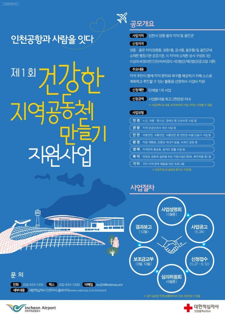인천공항공사, '건강한 지역공동체 지원사업' 참가단체 모집