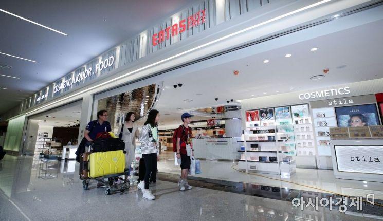 [포토] 개장 앞둔 인천공항 입국장 면세점