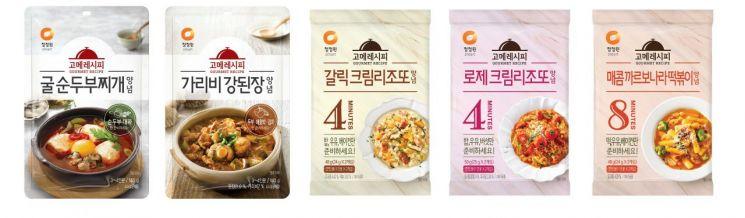 대상 청정원, 메뉴특화형 간편소스 '고메레시피' 신제품 5종 출시