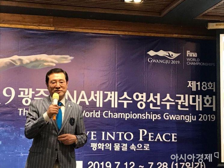 """이용섭 시장 """"광주세계수영선수권대회, 중국의 적극 참여 절실"""""""