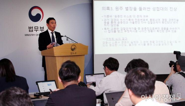 [포토] 김학의 사건 조사결과 발표하는 김용민 위원