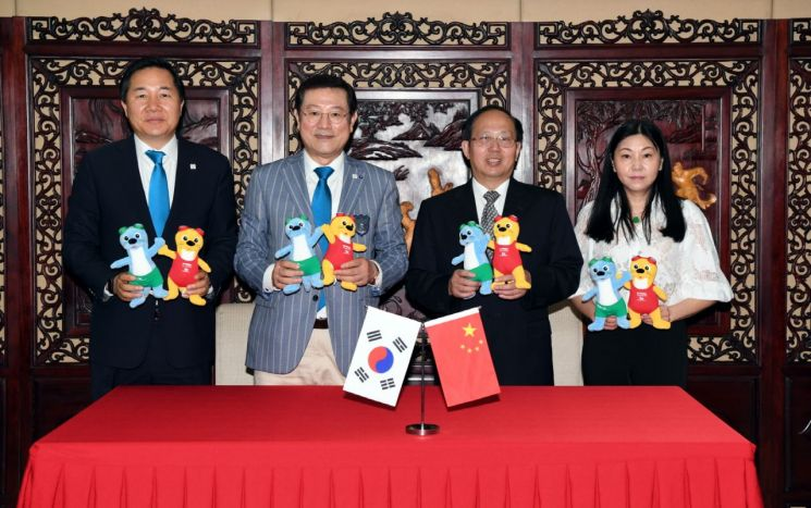 중국, 광주수영대회 성공 개최 적극 지원 약속