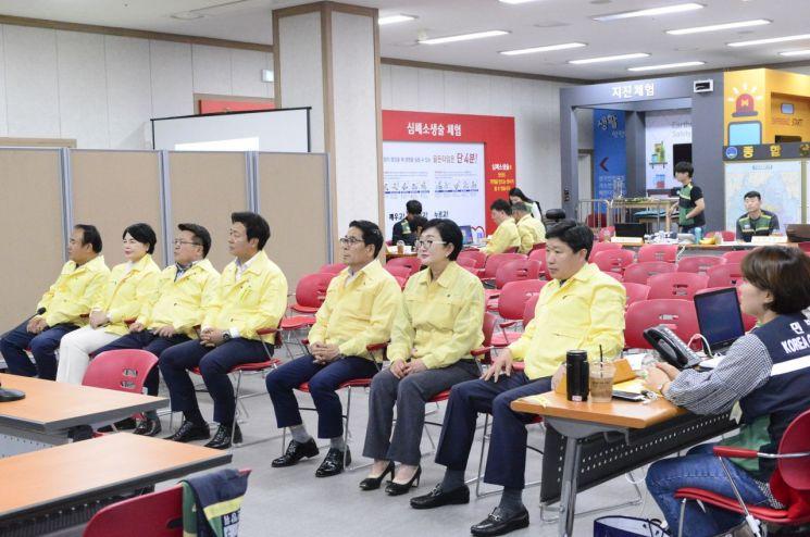 광주 서구의회, 을지태극훈련 종합상황실 방문