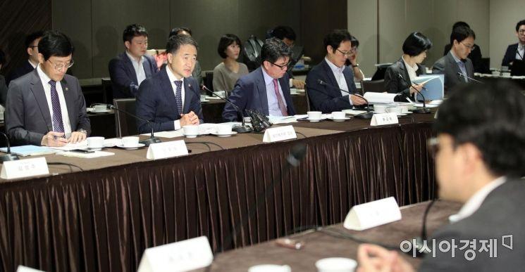 [포토] 국민연금 기금운용위 주재하는 박능후 위원장
