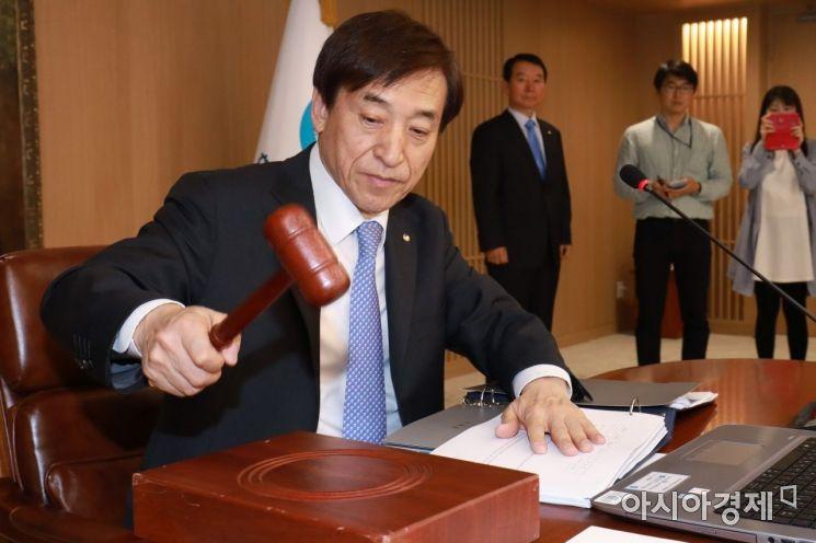 [포토] 금통위 주재하는 이주열 한국은행 총재