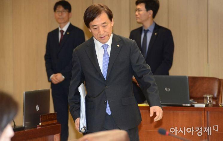 [포토] 금통위 참석하는 이주열 한은 총재