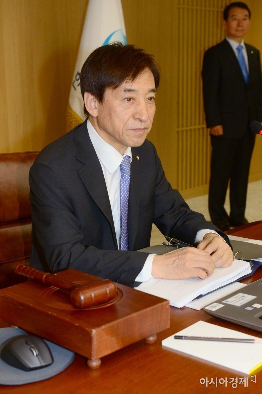 [포토] 금통위 참석한 이주열 총재
