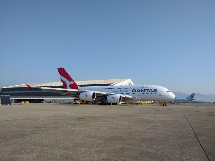 대한항공, 호주 콴타스항공 A380 항공기 도색작업 첫 출고