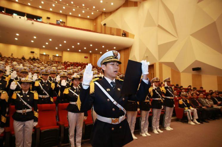 지난 2월28일 충남 아산 경찰대학 대강당에서 제39기 경찰대학 입학식이 열리고 있다./경찰대 제공