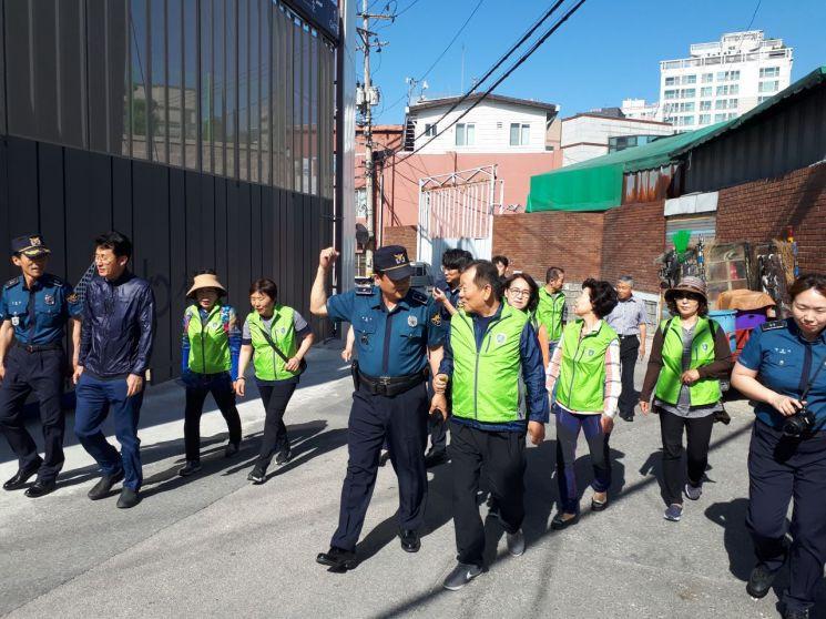 신길음 도시환경정비구역 민·관·경 합동 안전 순찰