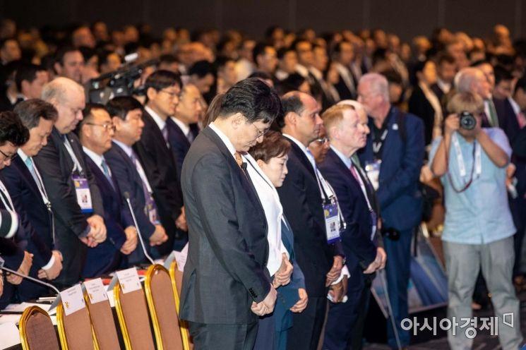 [포토]故 조양호 전 회장 추모하는 IATA 연차총회 참석자들