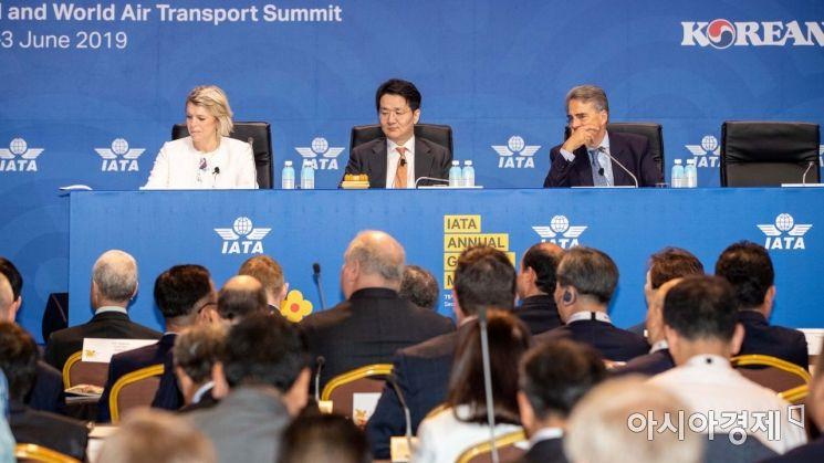 [포토]국제항공운송협회 연차총회 참석한 조원태 사장