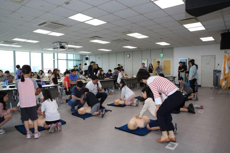 광주도시공사 '심폐소생술·AED 교육' 실시