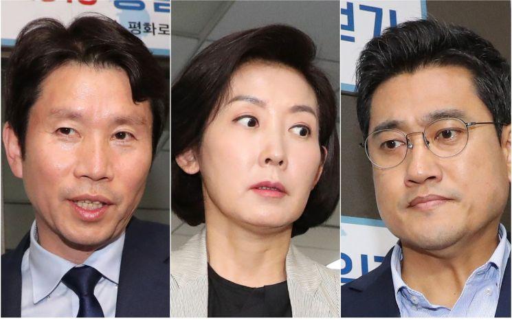 이인영 더불어민주당·나경원 자유한국당·오신환 바른미래당 원내대표.