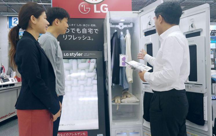 꽃가루 사회 문제 된 日…'LG 스타일러' 판매 급증